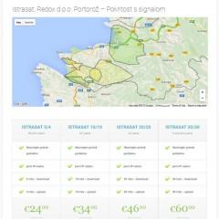 Istrasat – Nova spletna stran za našo storitev